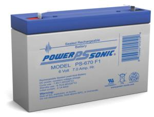 Batterie AGM 6 V 7 Ah Power Sonic PS-670