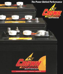 Lot de 4 Batteries CROWN CR150 / 12V 150Ah
