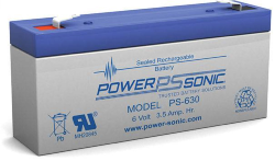 Batterie AGM PS-630 Power Sonic / 6 V - 3.4 Ah C20