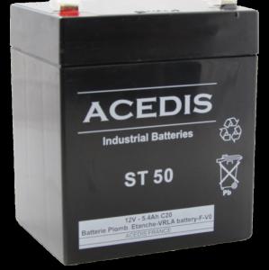 Batterie AGM étanche 12V 5,4 Ah   ACD ST 50 gamme VO a8b2c56bddcc