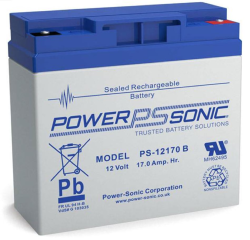 Batterie AGM PS-12170 Power Sonic / 12 V - 17 Ah C20