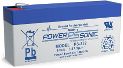 Batterie AGM PS-832 Power Sonic / 8 V - 3.2 Ah C20