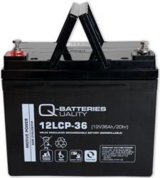 Batterie AGM cyclique 12LCP-36 QUALITY BATTERIES / 12 V 36 Ah