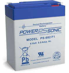 Batterie AGM PS-682 Power Sonic / 6 V - 8 Ah C20