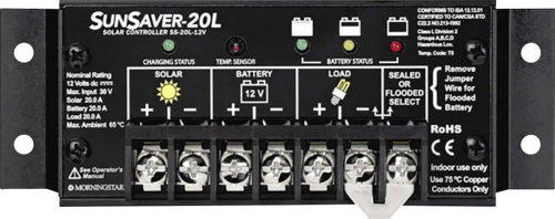 Régulateur de charge solaire 20 A 24 V SUNSAVER MORNINGSTAR SS-20L