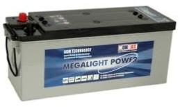 Batterie AGM ML 140A Megalight Power MONBAT /  12V 132 Ah