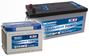 Batterie AGM Megalight Power 12V 132 Ah MONBAT ML 140A