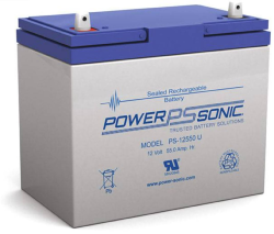 Batterie AGM PS-12550 Power Sonic / 12 V - 55 Ah C20
