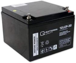Batterie AGM cyclique 12LCP-30 QUALITY BATTERIES / 12 V 30 Ah