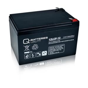 Batterie AGM cyclique QUALITY BATTERIES 12V 13 Ah / 12LCP-12