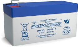 Batterie AGM PS-1212 Power Sonic / 12 V - 1.2 Ah C20